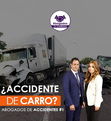 sufrio un accidente de carro?